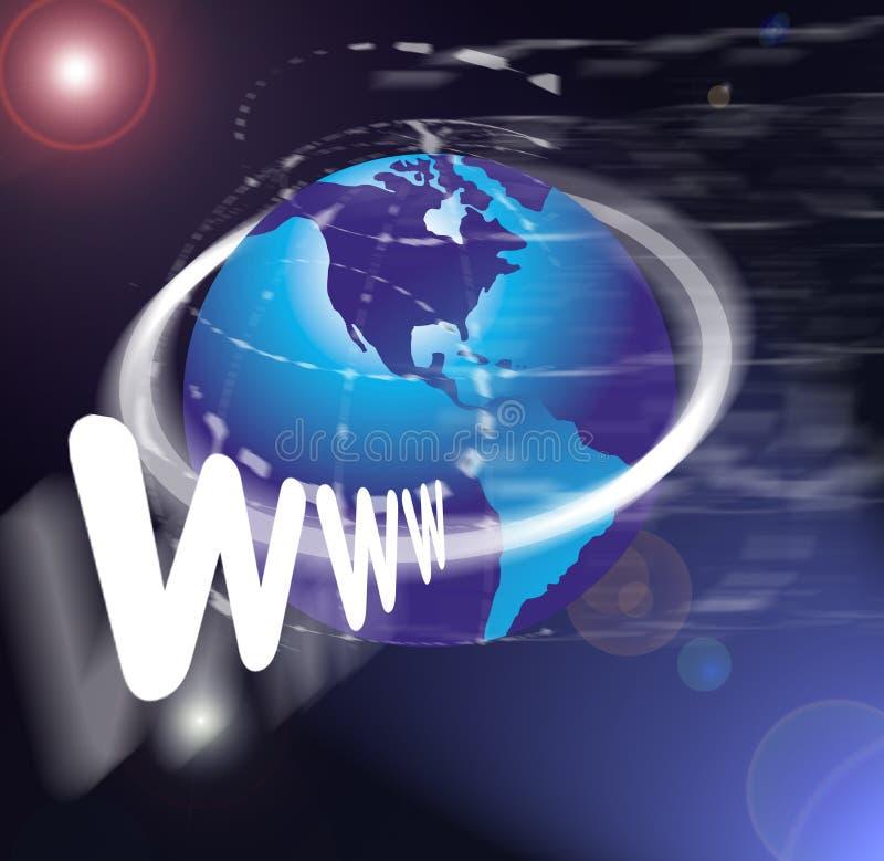 bred värld www för rengöringsduk vektor illustrationer