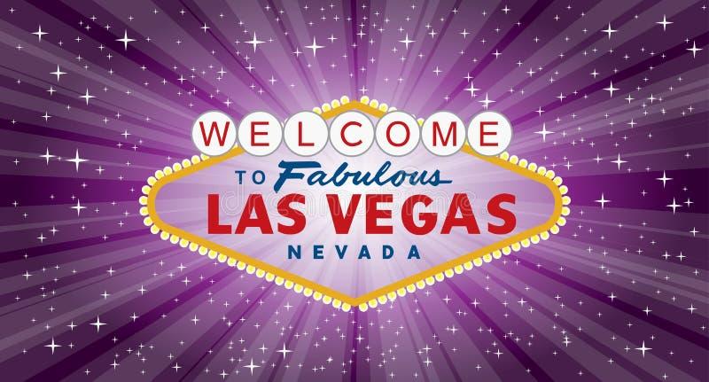 Bred Vegas lilabristning stock illustrationer
