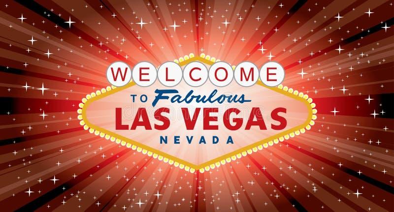 Bred Vegas röd bristning royaltyfri illustrationer