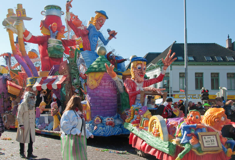 breda karnevalNederländerna 2011 royaltyfri foto