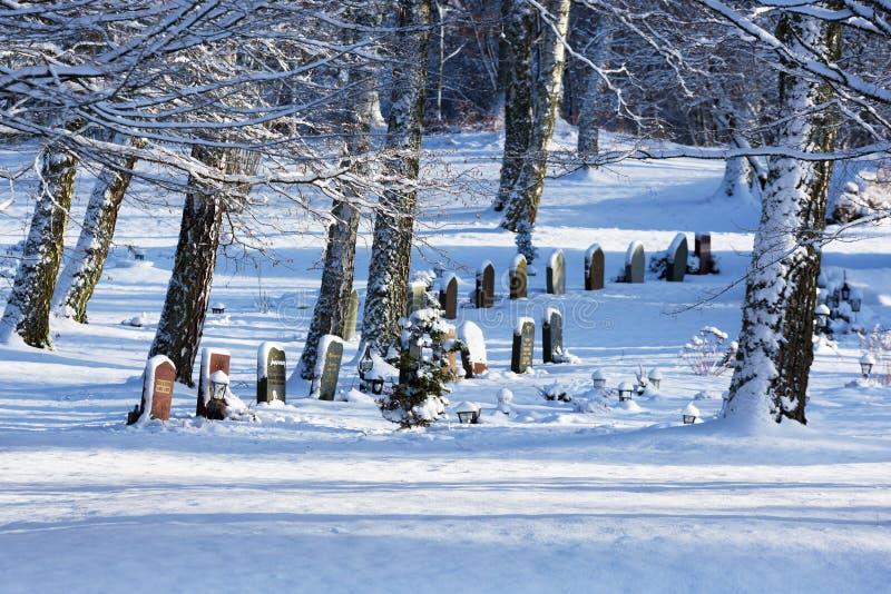 Bredakra kyrkogård royaltyfri fotografi