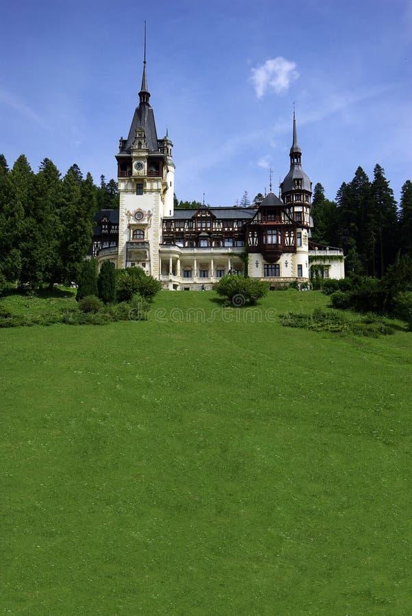 Brede de Hoekmening van Roemenië van het Pelespaleis royalty-vrije stock foto