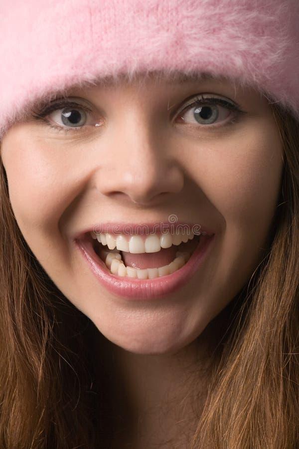 Brede glimlach royalty-vrije stock foto's