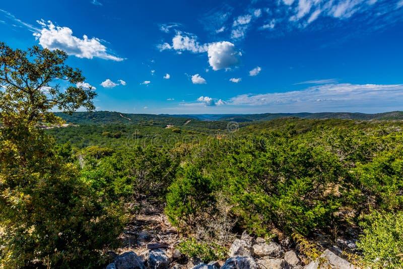 Brede Hoekmening van Texas Hill Country royalty-vrije stock foto's