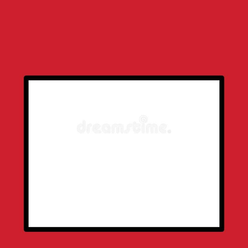 Brede lege rechthoekachtergrond voor de achtergrond van de fotostudio Leeg vierkant wit bord om lessen te schrijven door raad te  vector illustratie