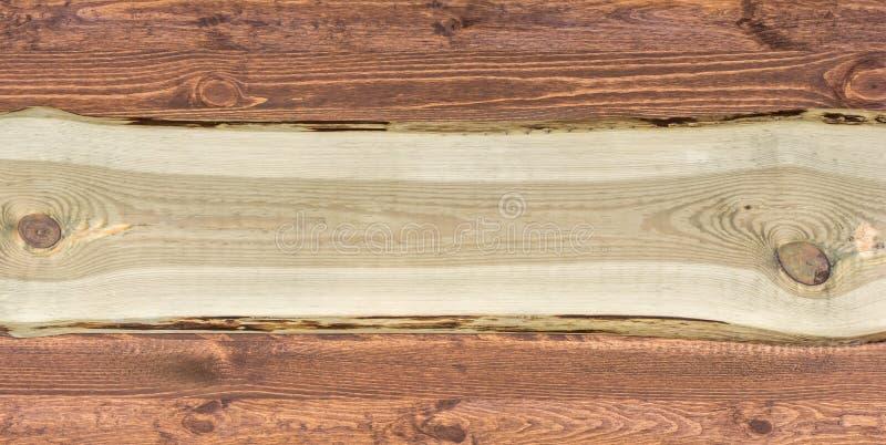 Brede rustieke houten achtergrond met exemplaarruimte voor verdere verwerking royalty-vrije stock fotografie