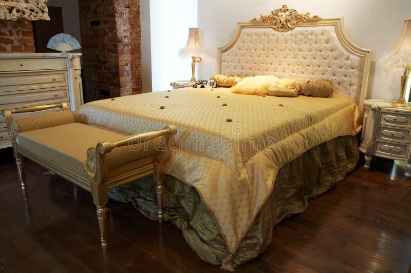 Breed bed royalty-vrije stock foto's