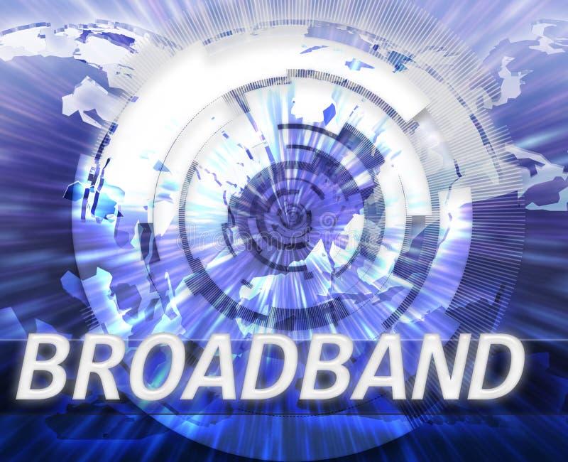 Breedband de gegevenstechnologie van Internet royalty-vrije illustratie
