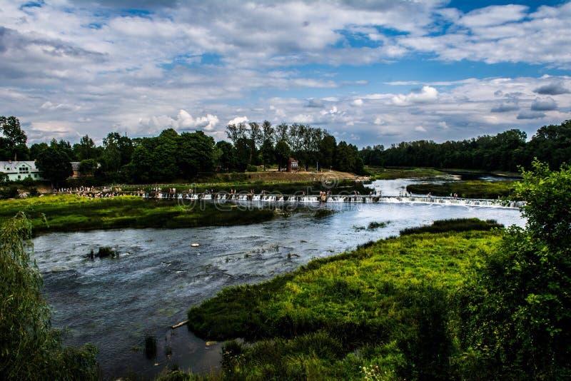 Breedste waterval in Europa stock foto's