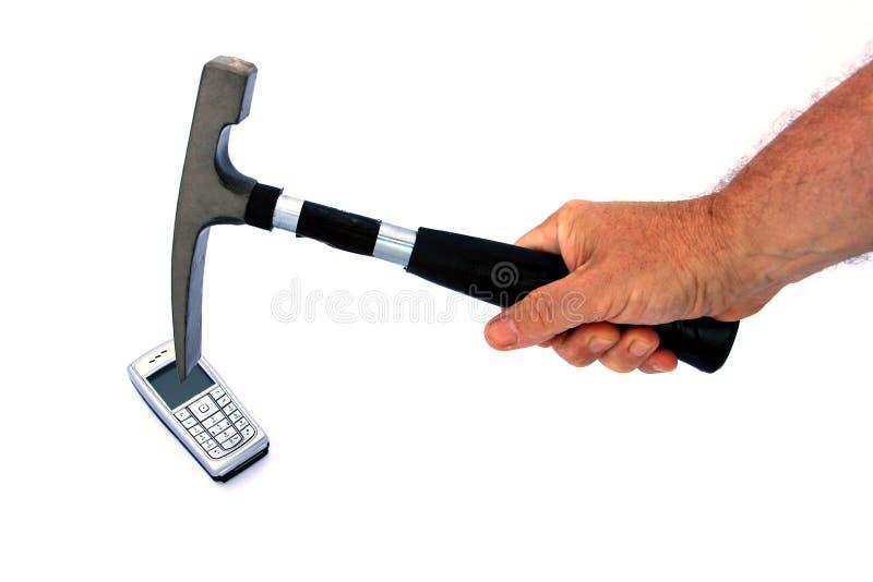 Breek de celtelefoon royalty-vrije stock foto