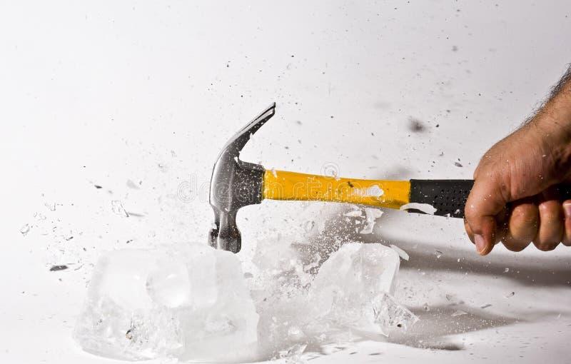 Breek het ijs stock afbeeldingen
