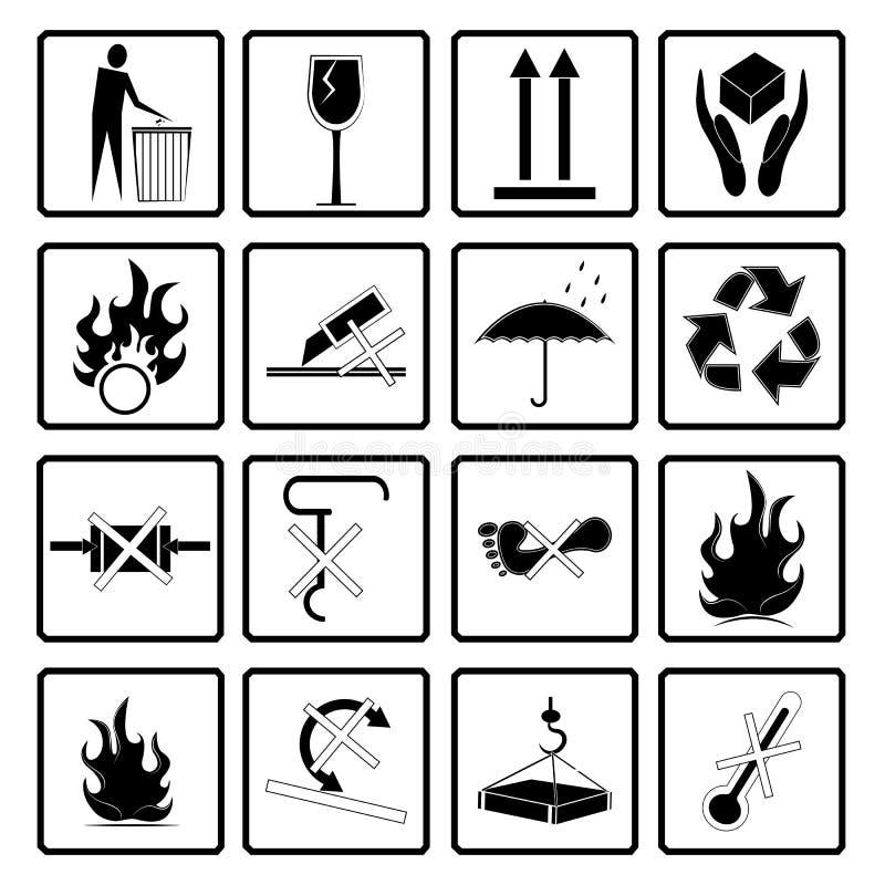 Breekbaar Symbool royalty-vrije illustratie