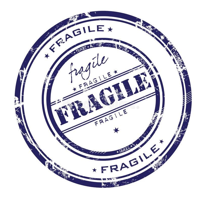 Breekbare zegel vector illustratie