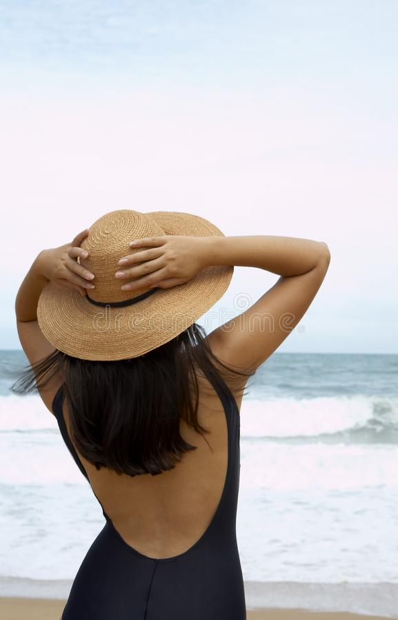 Download On the breeze stock image. Image of holiday, travel, headwear - 2745775