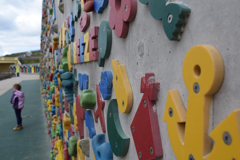 Breeze Rock climbing wall royalty free stock images