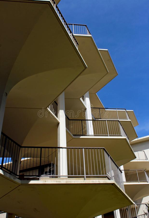 Breezeway entre Bonner Hall And Mayer Hall, UCSD fotografia de stock