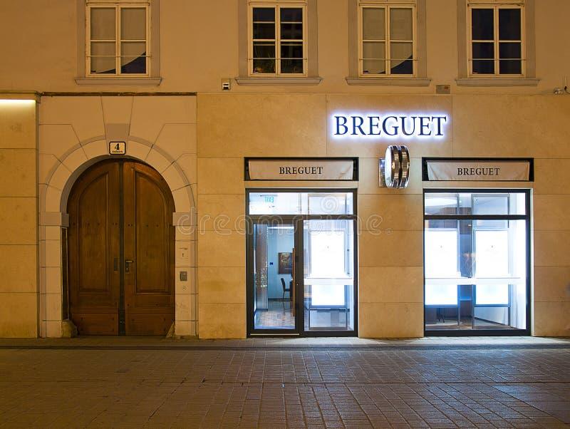 Breguet brand shop stock photography