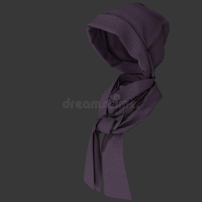 Brei GLB en sjaal royalty-vrije stock foto