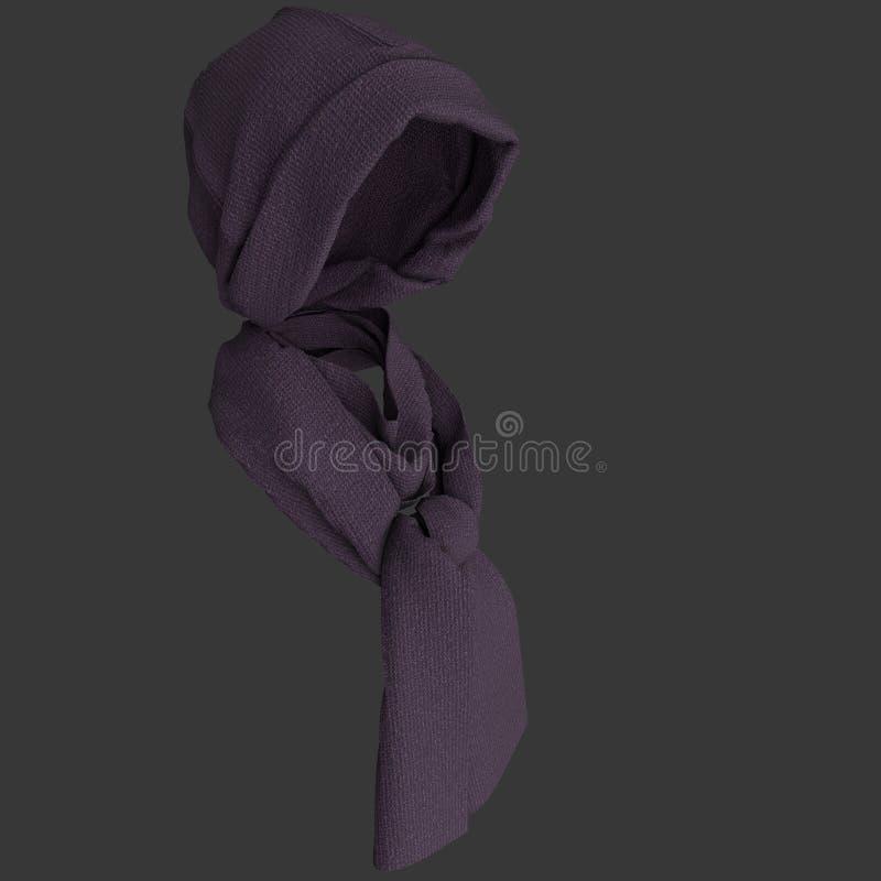 Brei GLB en sjaal stock afbeelding