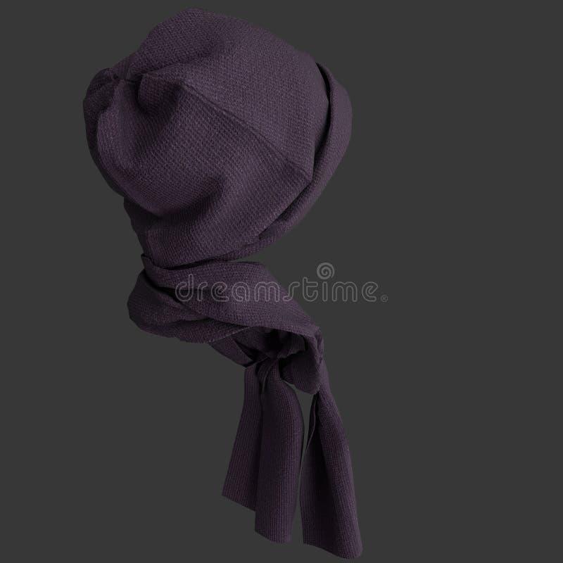 Brei GLB en sjaal royalty-vrije stock foto's