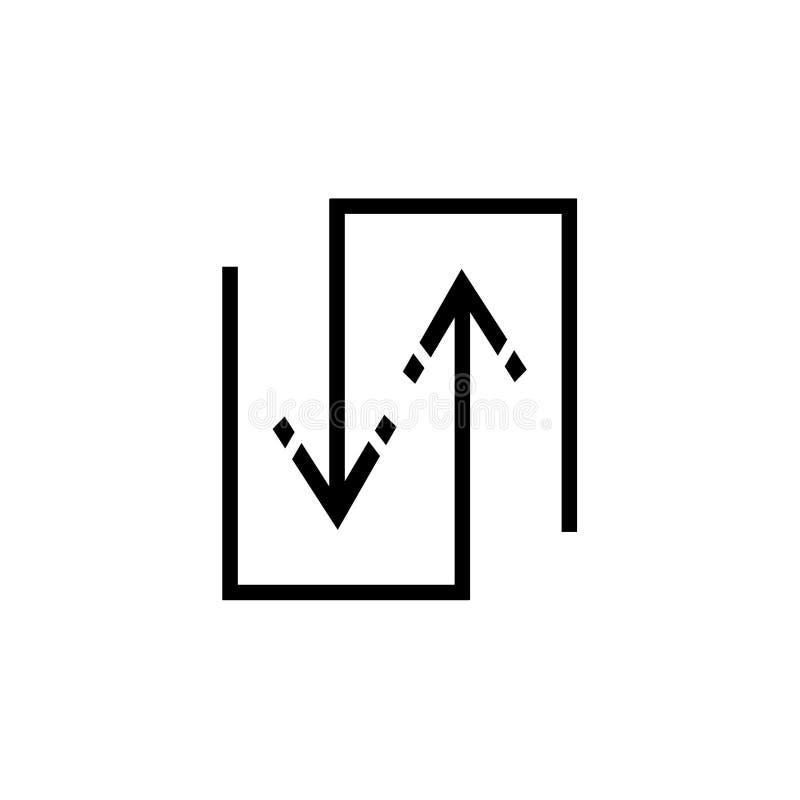 Breid pictogram vectordieteken uit en het symbool op witte achtergrond wordt geïsoleerd, breidt embleemconcept uit stock illustratie
