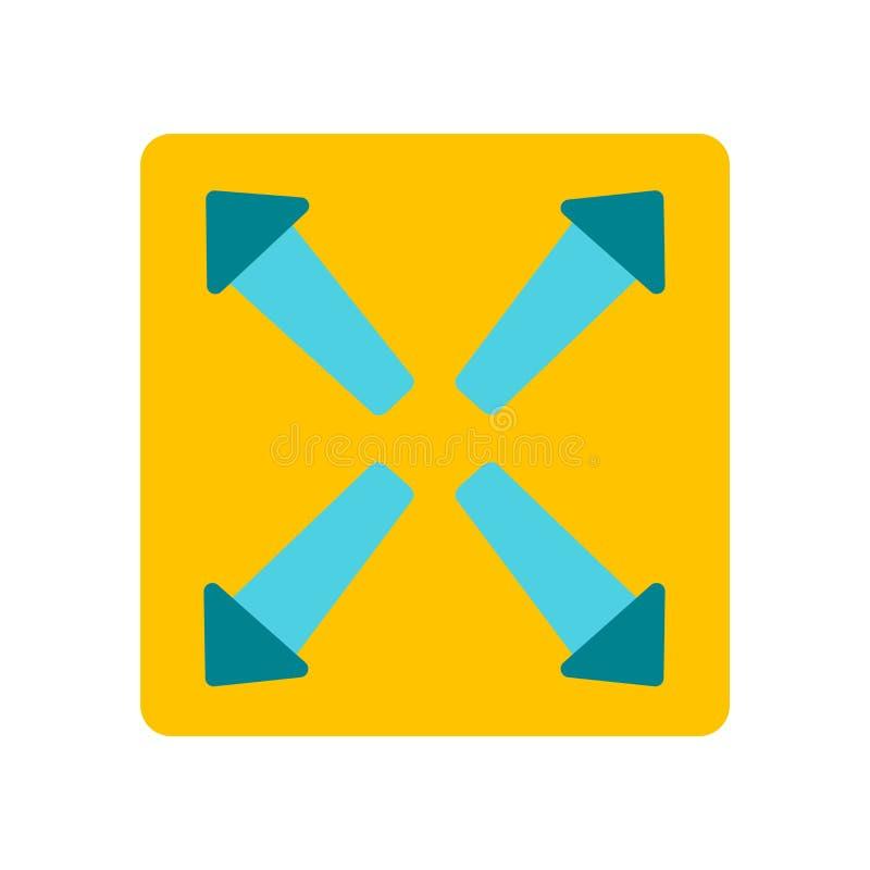 Breid pictogramvector uit op witte achtergrond wordt geïsoleerd, breid teken dat uit stock illustratie
