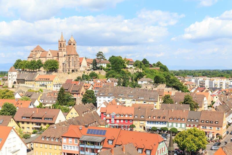 Breisach in Deutschland am Rand des Rheins stockfotos