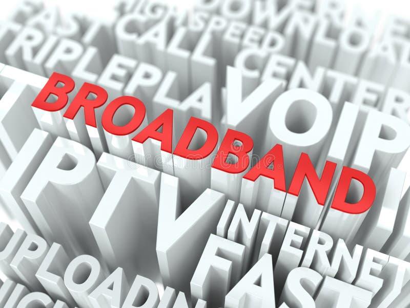 Breitband. Das Wordcloud-Konzept. vektor abbildung