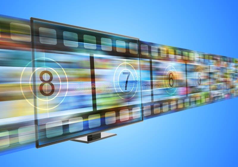 Breitband- und intelligentes Fernsehkonzept des Internets vektor abbildung