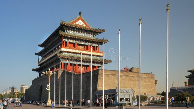Breite Ansicht des Qianmen-Tors, Peking lizenzfreie stockfotos