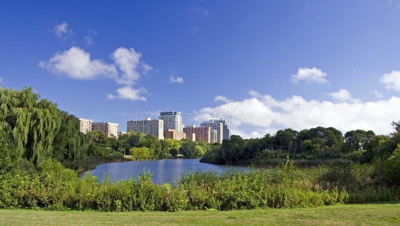 Breite Ansicht von Milwaukee stockfoto