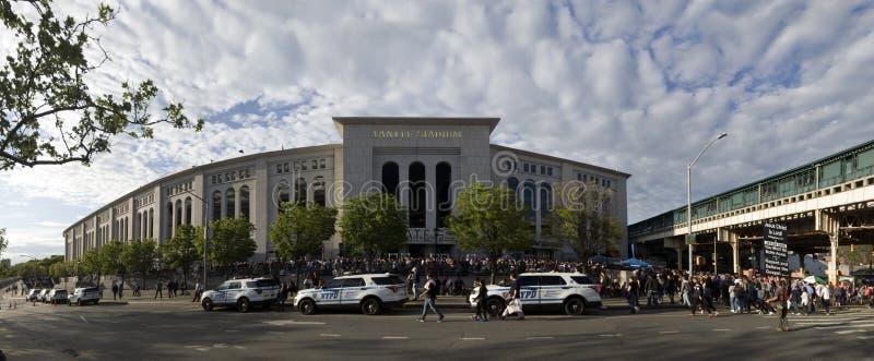 Breite Engelsansicht des Yankee Stadium im Bronx, New York lizenzfreie stockfotos