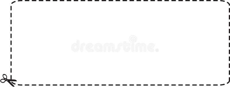 Breite Kupon-Ausschnitts-umreiß vektor abbildung