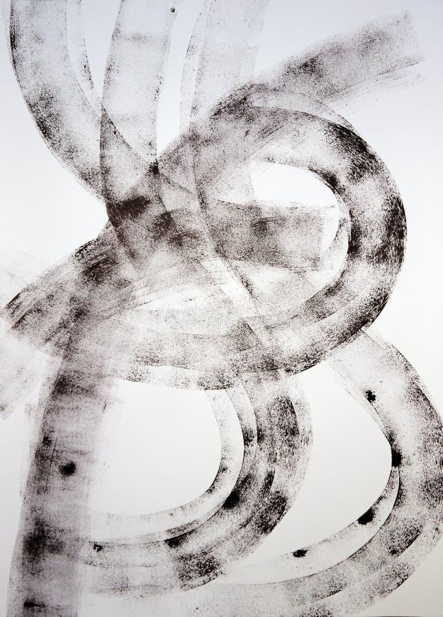 Breite Linien Brief b, die Harmonie geschrieben der Bewegung der breiten Linien lizenzfreie stockbilder