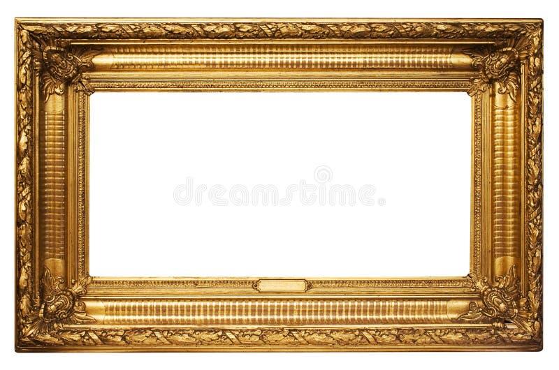 breiter goldener bilderrahmen mit pfad stockbild bild von getrennt verzierung 446497. Black Bedroom Furniture Sets. Home Design Ideas