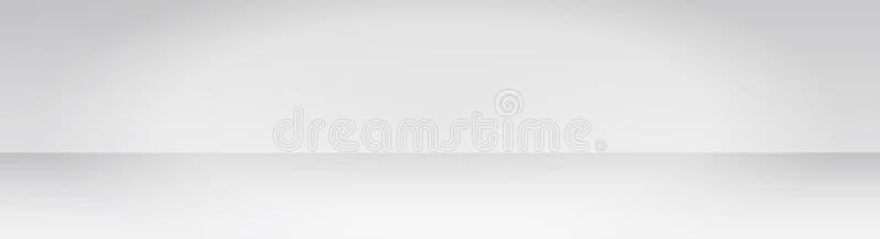 Breiter grauer Steigungszusammenfassungshintergrund, graue weiche helle Rahmen unscharfe Maschenbeschaffenheit für Darstellungsze stockfotografie