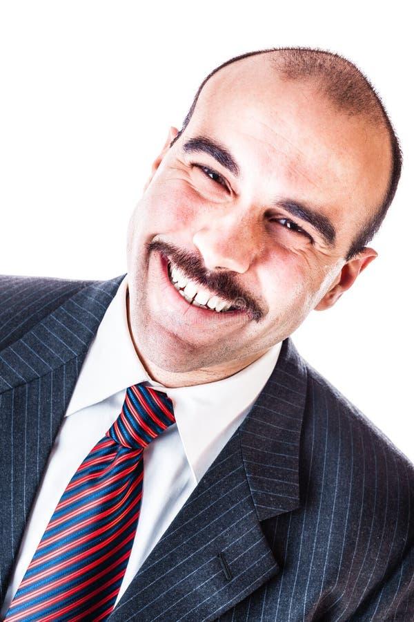 Breiter Lächelngeschäftsmann lizenzfreie stockfotos