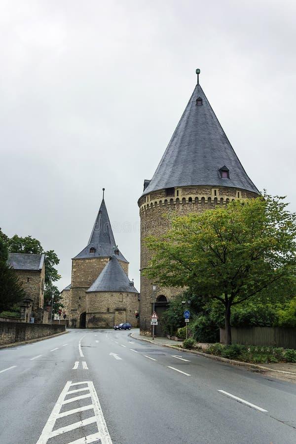 Breites Tor, Goslar, Deutschland lizenzfreies stockfoto