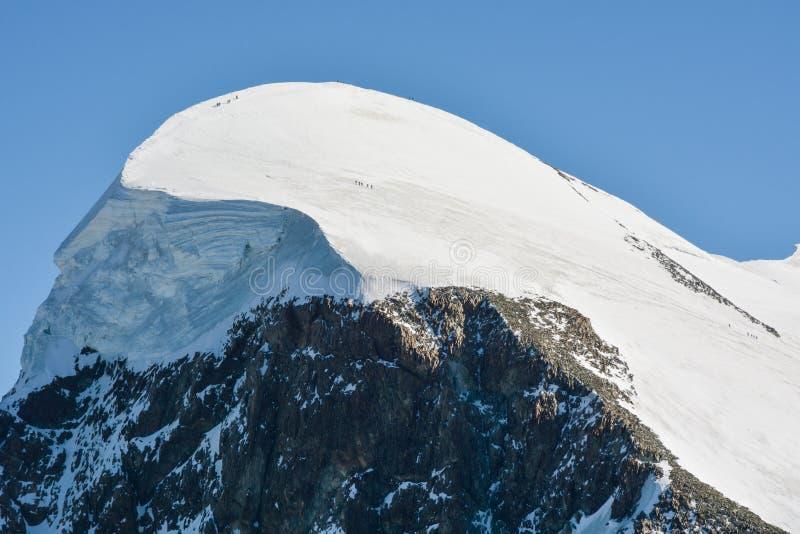 Breithorn, jeden łatwo wzniesiony 4,000m szczyt zdjęcie royalty free