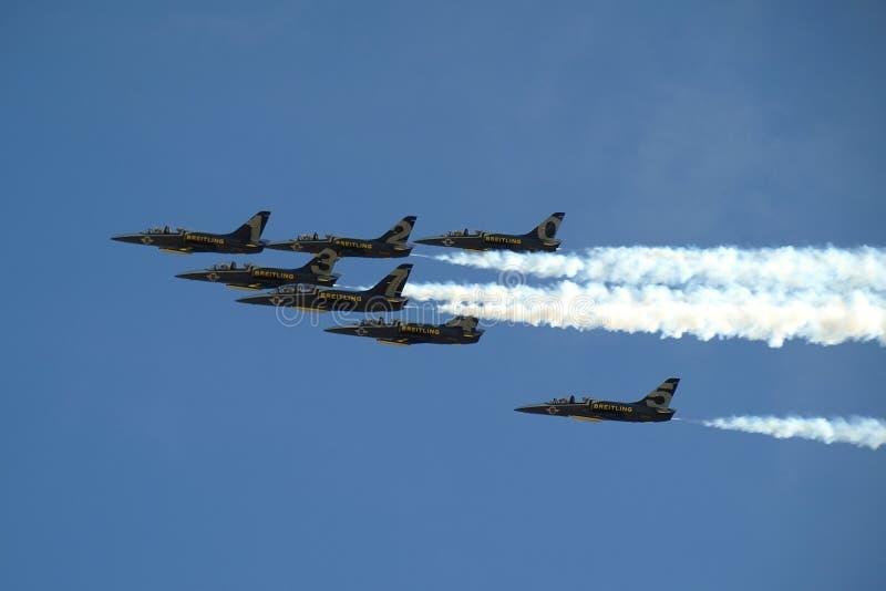 breitling的喷气机小组 图库摄影