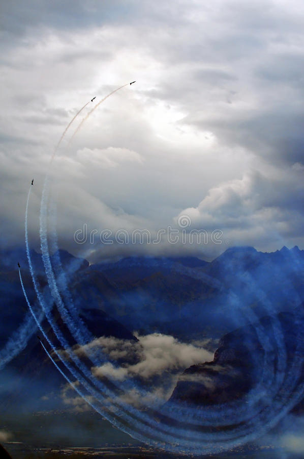 Breitling Air Show Sion royalty free stock images