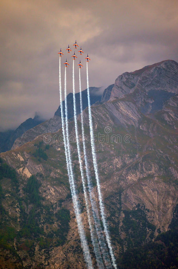 Download Breitling Air Show Sion Editorial Photography - Image: 21210282