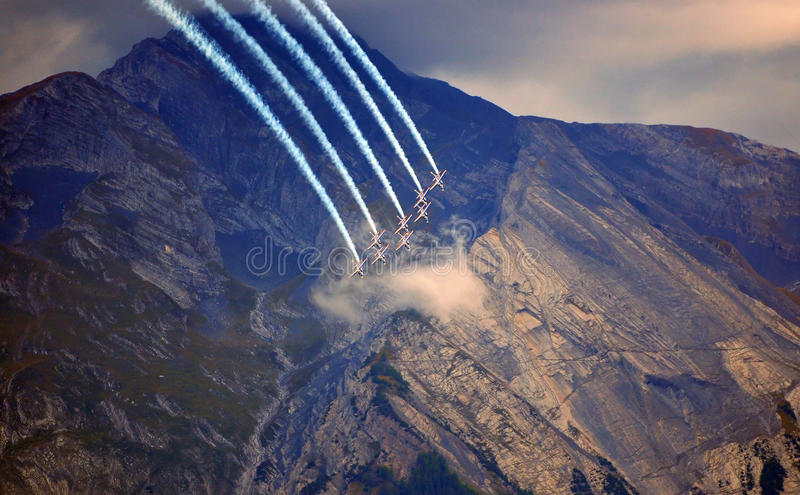 Breitling Air Show Sion royalty free stock photo