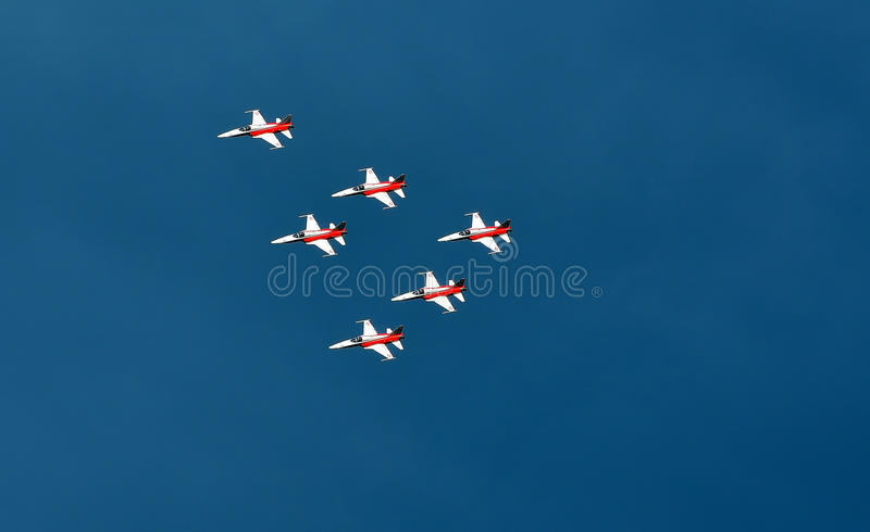 Breitling Air Show Sion stock images