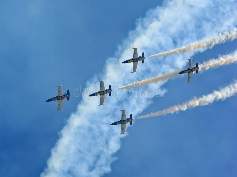 Breitling Jet Team royalty free stock images