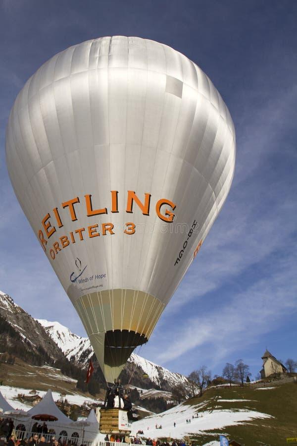 Breitling Orbiter-Ballon - Chateau-d'Oex 2010 lizenzfreie stockfotos