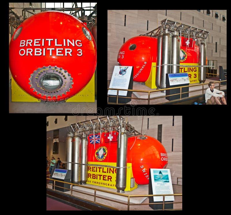 Breitling Orbiterbildschirmanzeige lizenzfreie stockfotografie