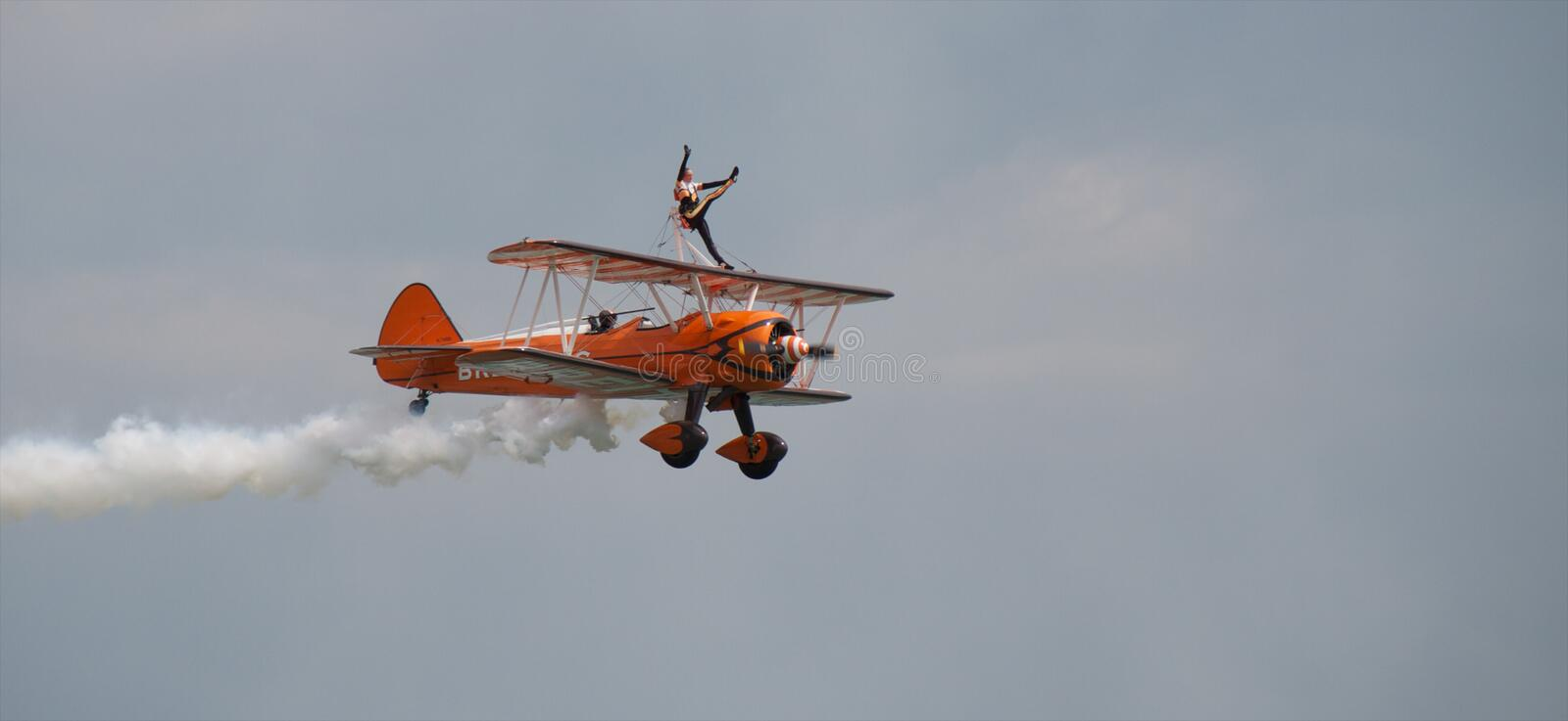 Download Breitling wing walkers editorial image. Image of person - 15580115