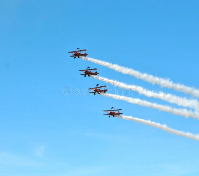 Breitling Wing Walkers en Farnborough Airshow 2016 imagenes de archivo