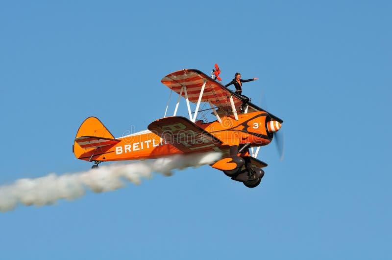 Breitling Wingwalkers fotografia stock libera da diritti